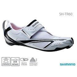 Image: SHIMANO SH-TR60 TRIATHLON SHOES WHITE / BLACK 47