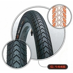 Image: CST TRACER 18 INCH STREET TYRE BLACK