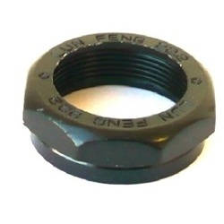 Image: GENERIC HEADSET LOCK NUT 1 1/8TH 25.4 MM BLACK