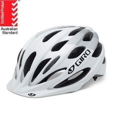 Image: GIRO BISHOP XL HELMET WHITE / SILVER ADULT XLARGE