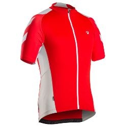 Image: BONTRAGER RACE JERSEY MENS RED / WHITE XSMALL