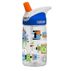 Image: CAMELBAK EDDY ATOMIC ROBOTS KIDS BOTTLE CLEAR / BLUE