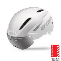 Image: GIRO AIR ATTACK HELMET WHITE / SILVER SMALL