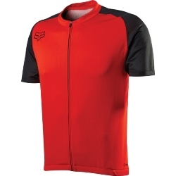 Image: FOX HEAD AIRCOOL ZIP JERSEY RED SMALL