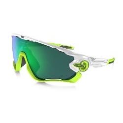 Image: OAKLEY JAWBREAKER POLISHED WHITE - JADE IRIDIUM