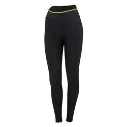 Image: CASTELLI CROMO TIGHT LADIES BLACK / SULPHUR XLARGE