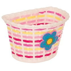 Image: PACIFIC KIDZ BITZ BASKET WITH FLOWER WHITE / PINK / YELLOW