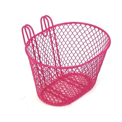 Image: GENERIC SMALL WIRE FRONT BASKET PINK
