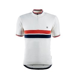 Image: CHAPEAU! CAFE JERSEY CHEST STRIPE WHITE SMALL