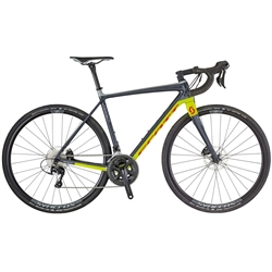 Image: SCOTT ADDICT GRAVEL 30 DISC 2018 GREY / FLUORO YELLOW / RED XLARGE - 58