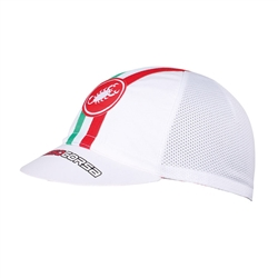 Image: CASTELLI PERFORMANCE CYCLING CAP WHITE ONE SIZE