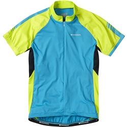 Image: MADISON KEIRIN SHORT SLEEVE JERSEY LADIES HAWAIIAN BLUE / GREEN MEDIUM (10)