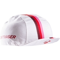 Image: BONTRAGER CYCLING CAP COTTON WHITE / PINK ONE SIZE