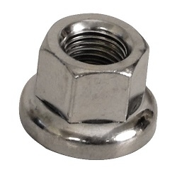 Image: GENERIC TRACK 3/8TH AXLE NUT SINGLE CHROME