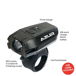 Image: AZUR 400 LUMEN USB FRONT LIGHT