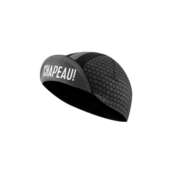 Image: CHAPEAU! COTTON CYCLE CAP PATTERN STRIPE BLACK ONE SIZE