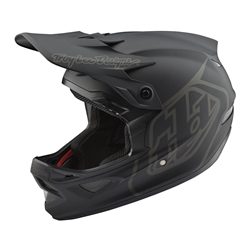 Image: TROY LEE D3 FIBERLITE MONO HELMET BLACK LARGE