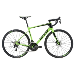 Image: GIANT DEFY ADVANCED 2 2018 NEON GREEN MEDIUM