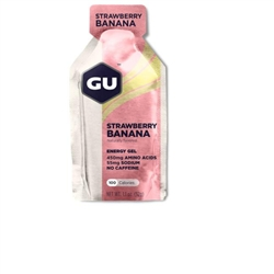 Image: GU ENERGY GEL STRAWBERRY BANANA