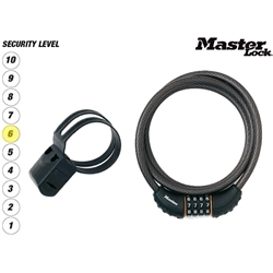 Image: MASTER LOCK CABLE COMBO LOCK 180 X 10MM