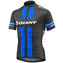 Image: GIANT RACE DAY SS JERSEY BLACK / BLUE SMALL