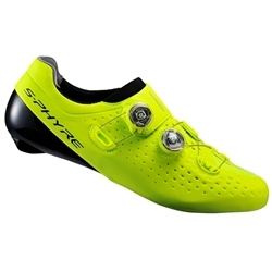 Image: SHIMANO SH-RC9 S-PHYRE MENS ROAD SHOES FLUORO YELLOW 43