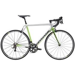 Image: CANNONDALE SUPERSIX EVO CARBON ULTEGRA 2017 TEAM COLOUR / SILVER / GREEN 52CM