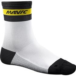 Image: MAVIC KSYRIUM CARBON SOCKS WHITE / BLACK Medium (39-42)
