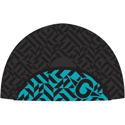 Image: MADISON SPORTIVE POLY COTTON CYCLING CAP BLACK / AQUA UNIVERSAL