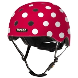 Image: MELON  DOTTY HELMET RED / WHITE XXS-S