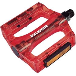 Image: EXUSTAR PB72 POLYCARBONATE PEDALS RED