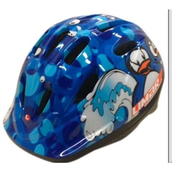Image: LIMAR 123 HELMET TODDLER BLUE PENGUINS (45-52CM)